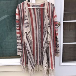 Absolutely beautiful cover up/cardigan with fringe